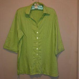 Bright vintage  button up shirt